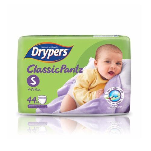 Tã bỉm quần DRYPERS CLASSIC  PANTZ S44 ( bé 4 - 8 Kg )