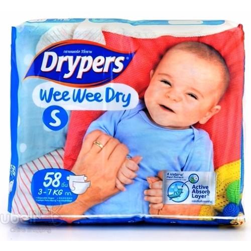 Tả - bỉm DRYPERS WEE WEE DRY S58 ( bé 3 - 7 Kg )