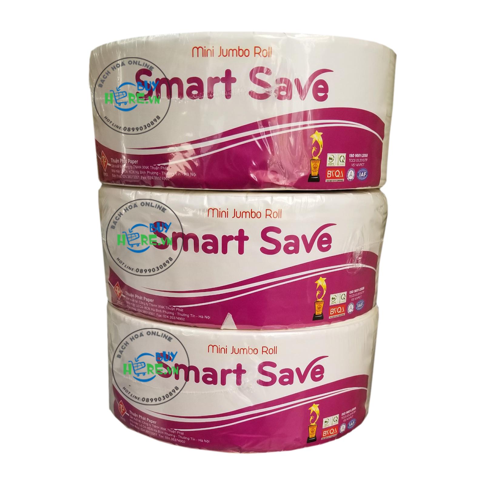 Giấy vệ sinh cuộn lớn Smart Save 700 gram 2 lớp