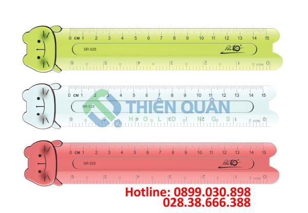 Thước dẻo SR-025 15cm PVC