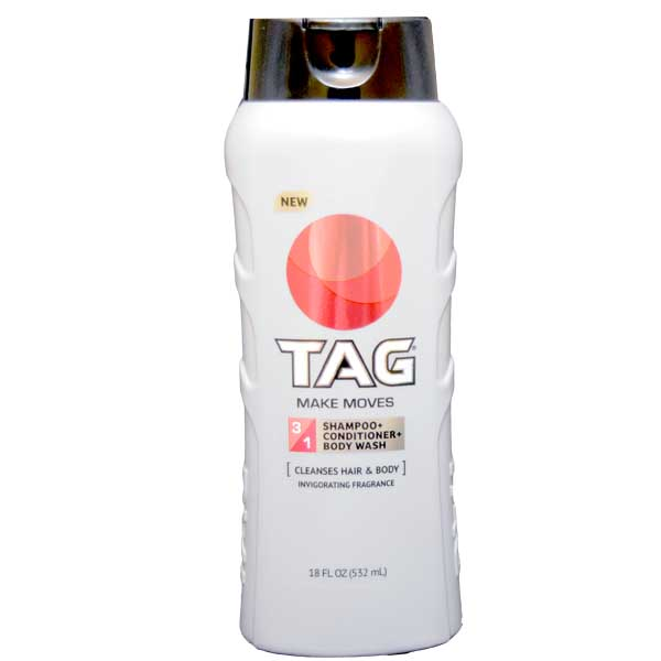 TAG Hair & Body Wash 3-In-1, Make Moves 532ml