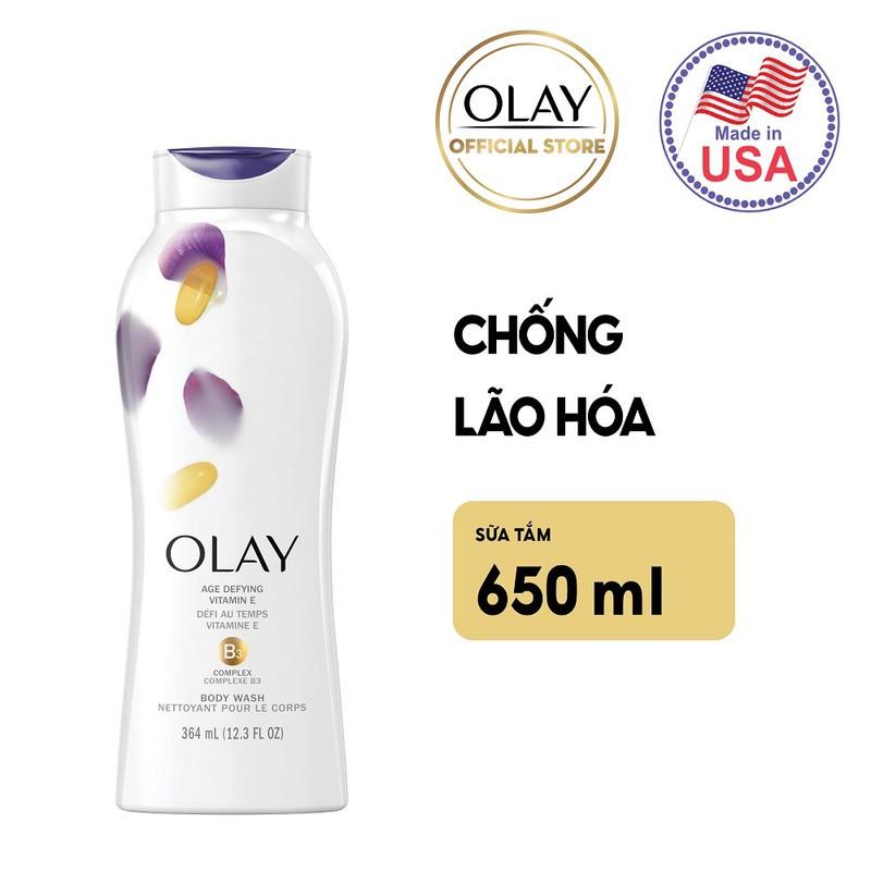 Sữa Tắm Olay Age Defying With Vitamin E Chống Lão Hóa 650ml