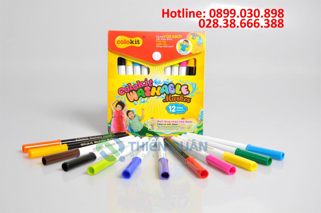 Bút lông màu rửa được SWM-C01 12 màu