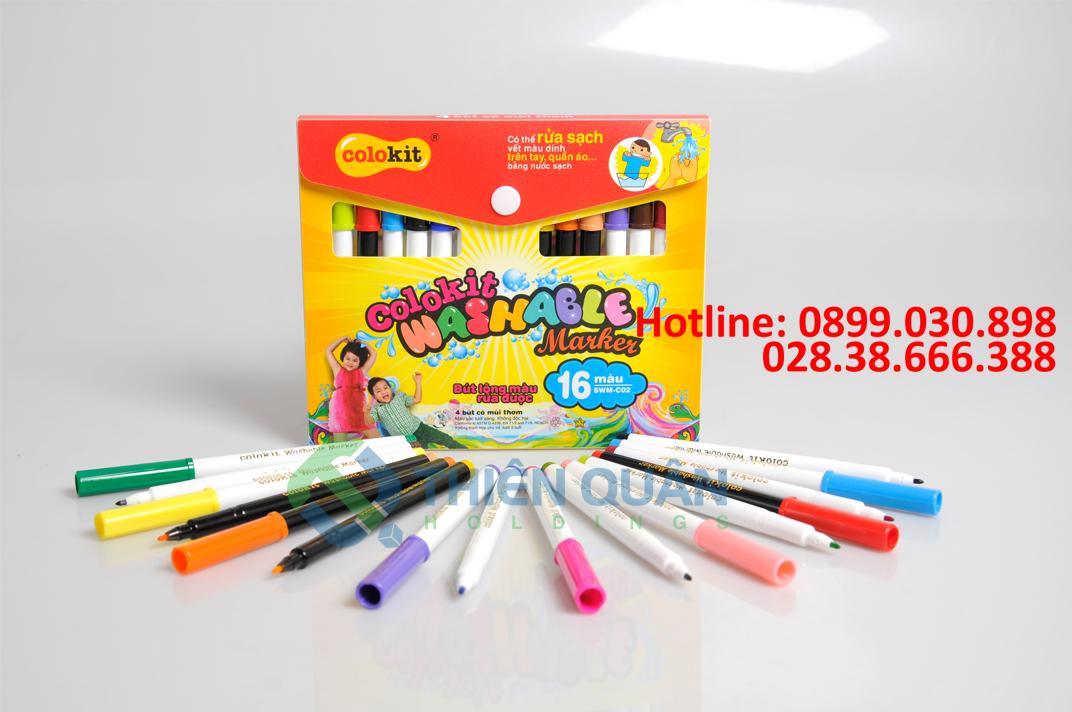 Bút lông màu rửa được SWM-C02 16 màu