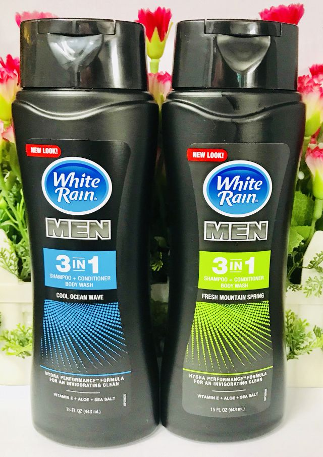 Sữa tắm gội White Rain for men 3-in-1 Cool Ocean Wave 443ml