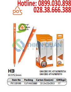 Bút chì gỗ thân cam ,HB-DOT - Y-PLUS+
