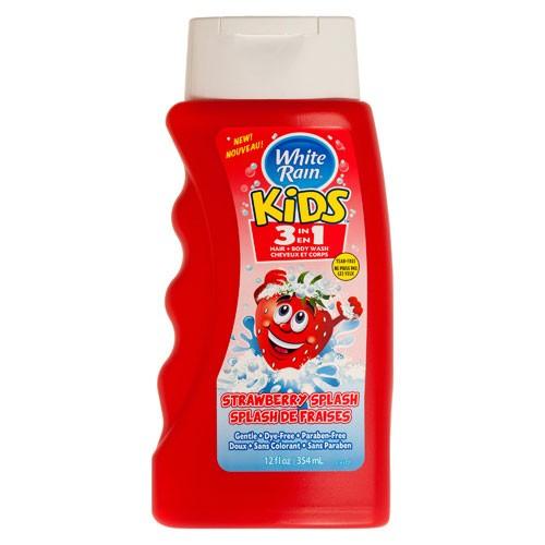 Dầu tắm gội White Rain Kids 3in1 Strawberry Splash 354 ml