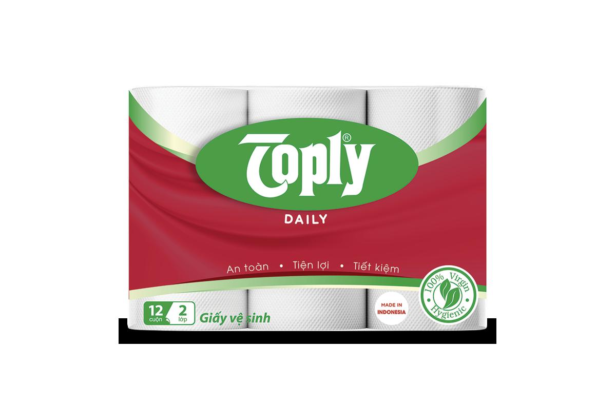 Giấy vệ sinh Toply Daily 12 cuộn 2 lớp