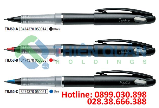 TRADIO - Bút Gel nắp đậy 0.5 (vỏ đen, trắng)