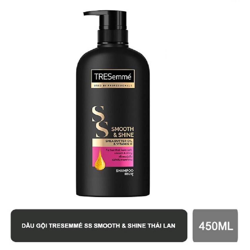 Dầu gội bóng mượt TRESemmé Smooth & Shine Shea Butter Oil & Vitamin H- 450ml