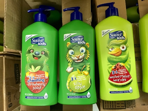 Sữa tắm gội xả Suave Kids 3 in 1 mẫu mới chai có vòi 532ml