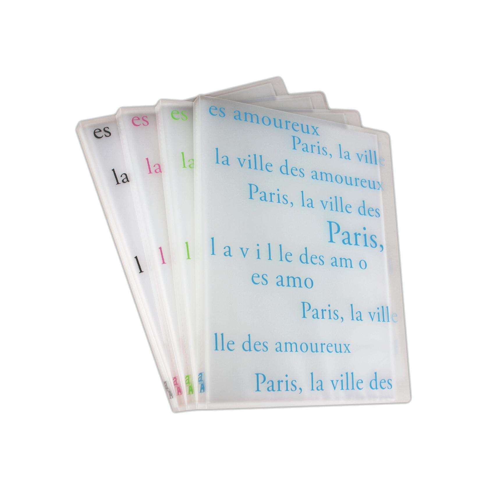 Bìa 20 túi trong mờ - Thiết kế kiểu Paris