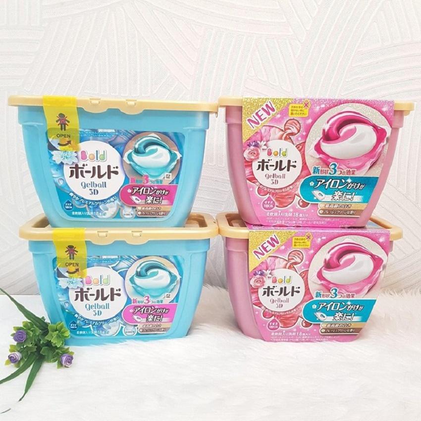 Viên giặt xả GELL BOLD 3D Nhật Bản