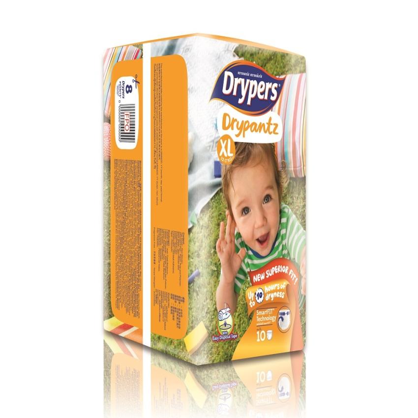 Tã bỉm quần DRYPERS DRYPANTZ XL10 (bé 12 - 17 Kg)
