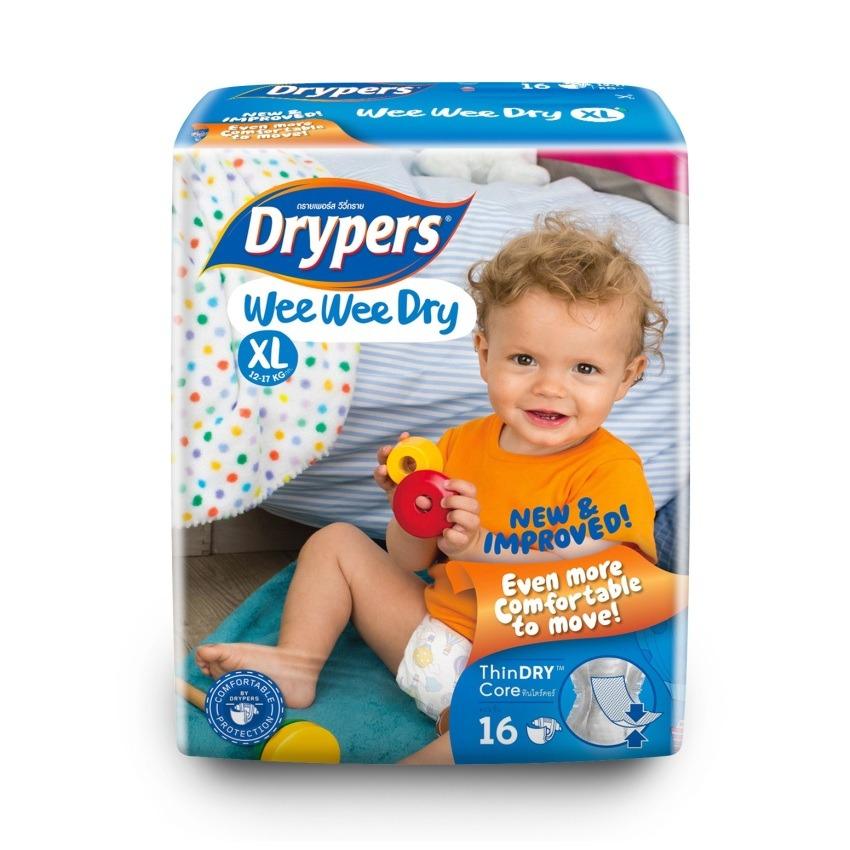Tả - bỉm DRYPERS WEE WEE DRY XL16 (bé 12 - 17 Kg)