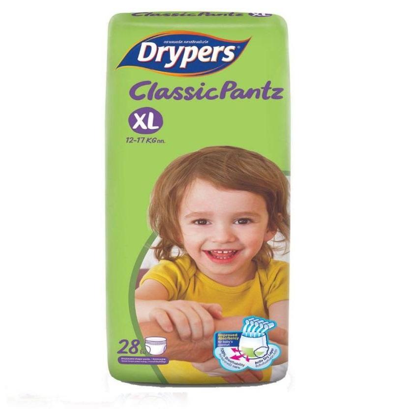 Tã bỉm quần DRYPERS CLASSIC PANTZ XL28 ( bé 12 - 17 Kg )
