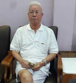 Dinh Viet T, 91 years old, in Tan Binh district