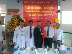 Opening a hearing room at Cu Chi General Hospital
