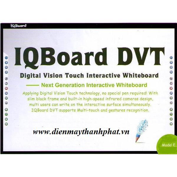 Bảng tương tác thông minh IQboard DVT Plus 92 inch 2 người dùng