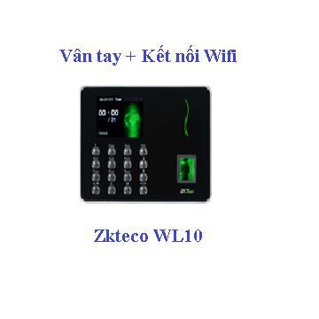 Máy chấm công vân tay kết nối wifi ZKteco WL10