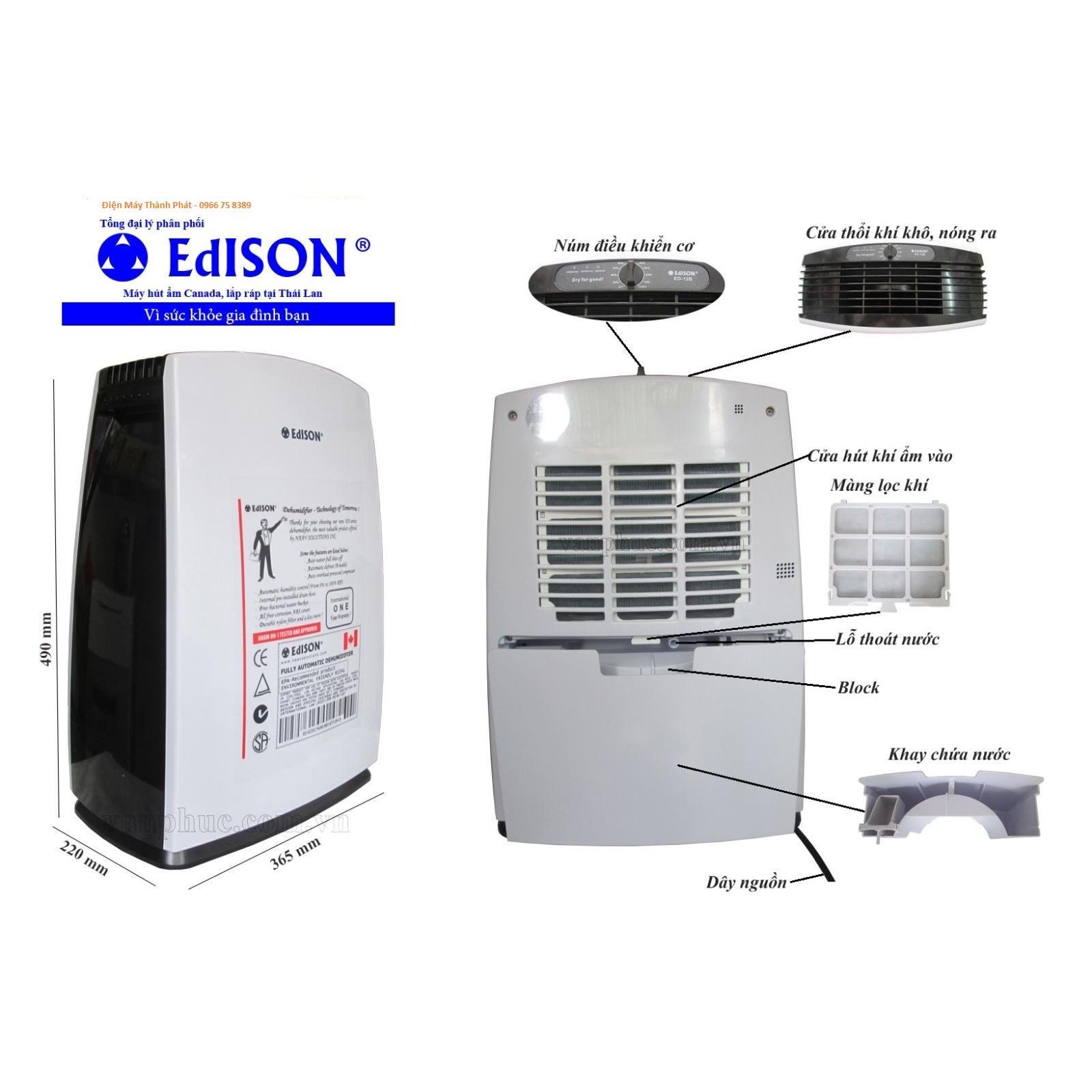 Máy hút ẩm EDISON ED-12B