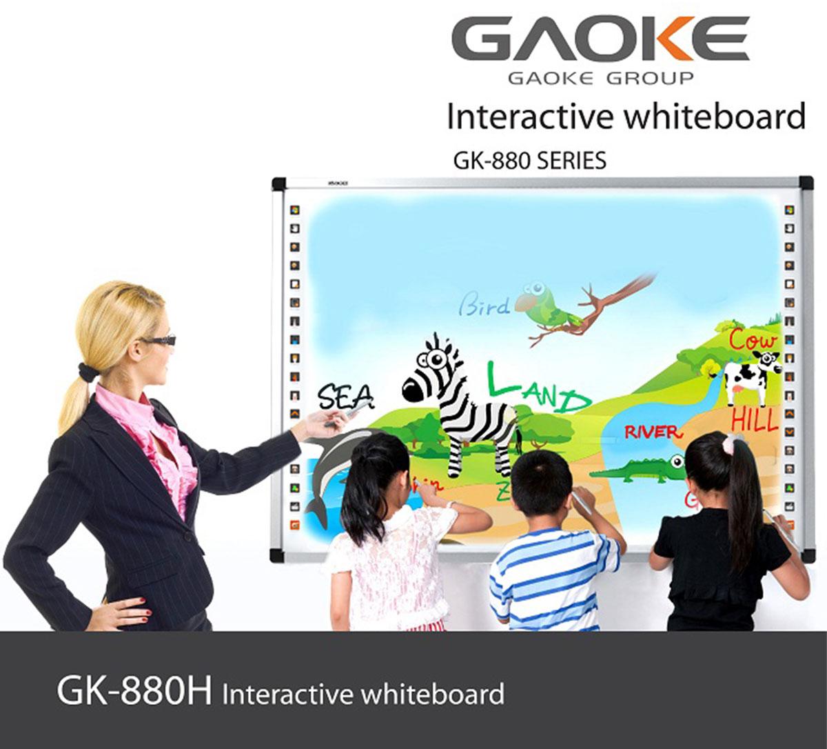 Bảng tương tác thông minh Gaoke 82 inch 10 chạm