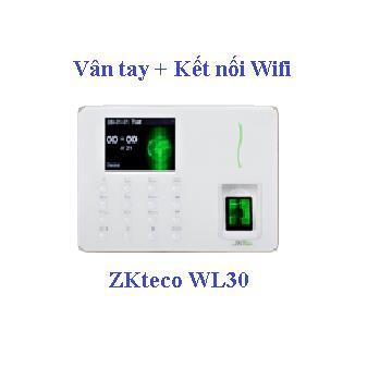 Máy chấm công vân tay kết nối wifi Zkteco WL30