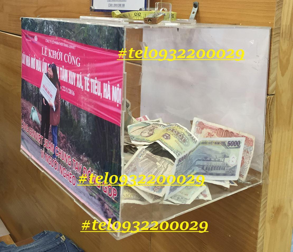 Thùng bốc thăm trúng thưởng hay hòm phiếu có sẵn và giao hàng toàn quốc