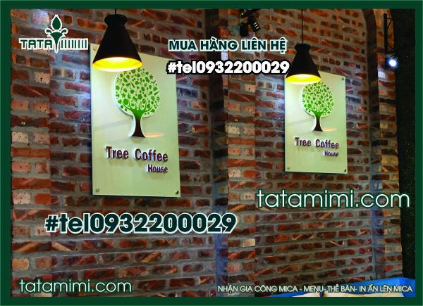 Biển Logo Tree coffe Chữ Nổi Trong nhà