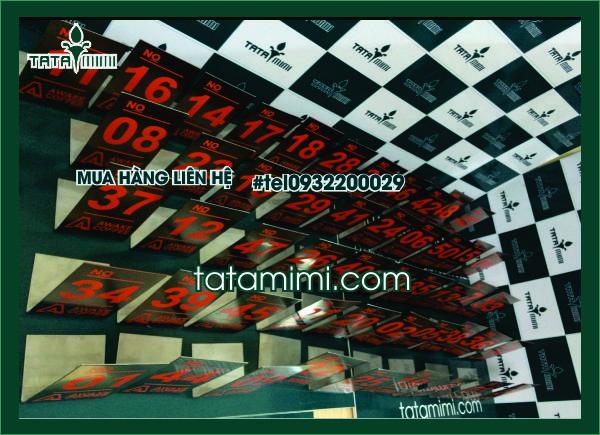 Thẻ bàn Inox 1 mặt