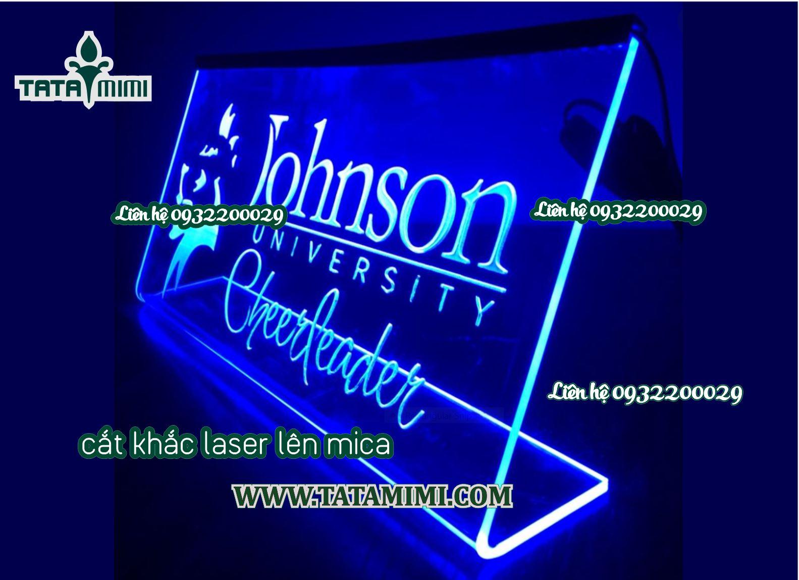 Biển công ty mica cắt khắc laser