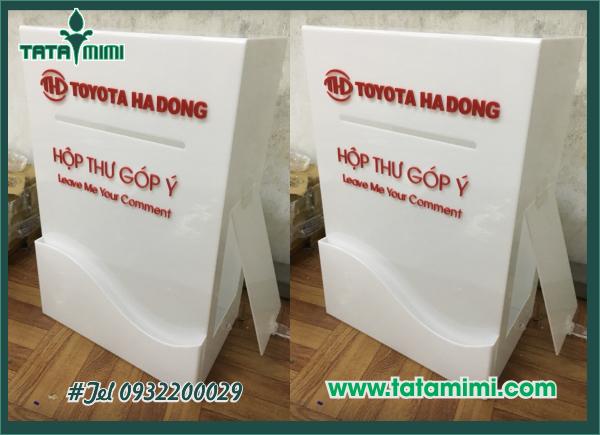 Mẫu hòm thư Toyota Hà Đông