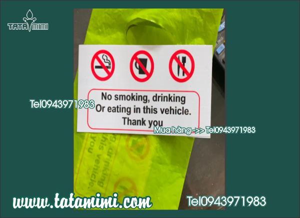 Decal Nosmoking , No drinking, No eating