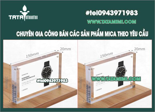 Khung mica để bàn mica Nam châm KTB1015-TM