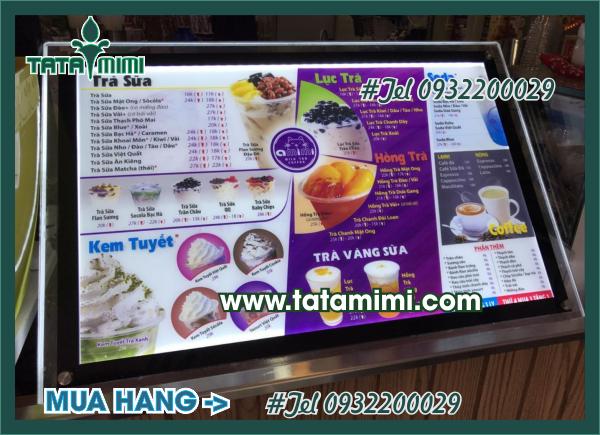 Thiết kế menu trà sữa miễn phí