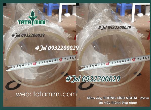 Mica ống Rỗng Đường Kính 250MM-5MM