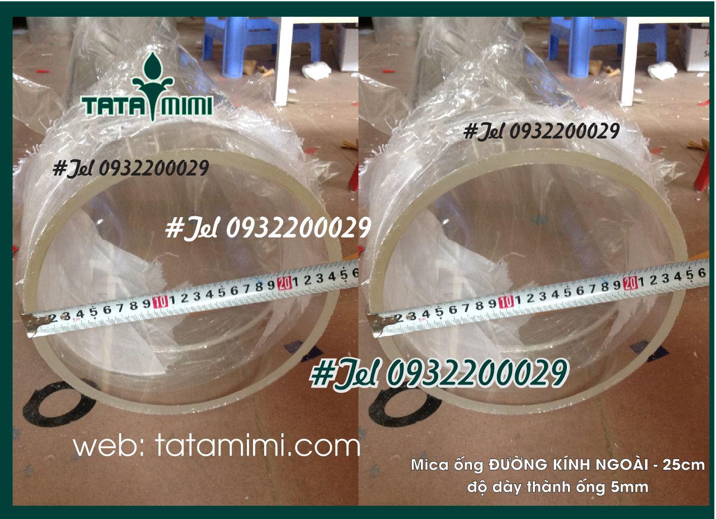 Mica ống Rỗng Đường Kính 250MM-2MM
