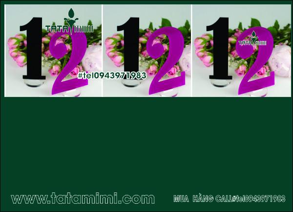 Biển thẻ bàn cafe Delux 03