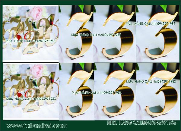 Biển thẻ bàn cafe Delux 02