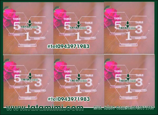Biển thẻ bàn cafe Delux 04