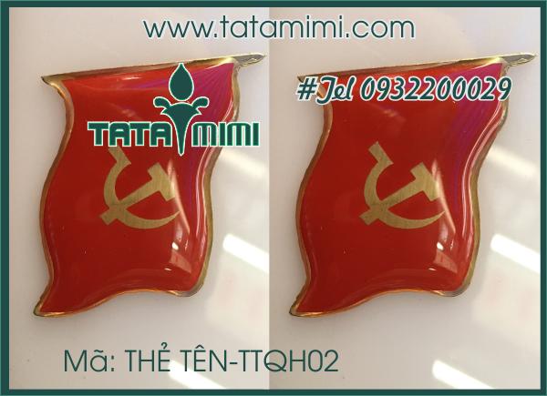 Thẻ tên cài áo –TTQH02