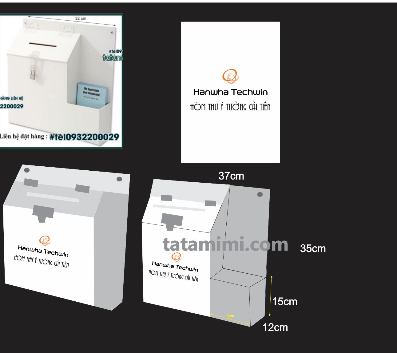 Thiết kế thùng thư góp ý market