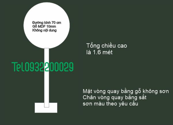 Vòng quay Đường Kính 70cm