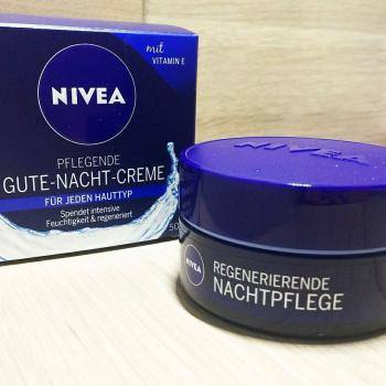 kem d ng t i t o da ban m nivea gute nacht creme pflegende 50ml shop m ph m t c p. Black Bedroom Furniture Sets. Home Design Ideas