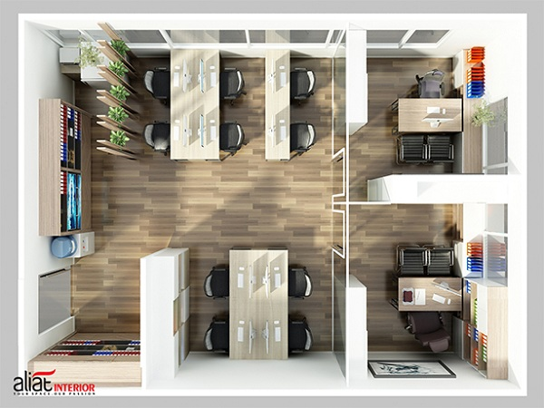 Thiết kế nội thất văn phòng với đặc thù kiể nhỏ hẹp Thi-cong-thiet-ke-noi-that-van-phong-lam-viec-chuyen-nghiep-2