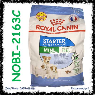 Royal Canin Mini Starter Mother & Babydog 3kg Chó Mẹ - Con