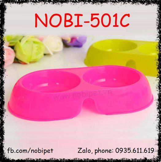 Máng Ăn Đôi Double Nhiều Màu Cho Thỏ Kiểng Bọ Ú Nobi-501C
