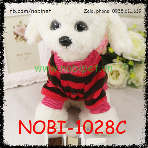 Áo Ấm Cho Chó Bee Kẻ Ngang Thời Trang Nobi-1028C
