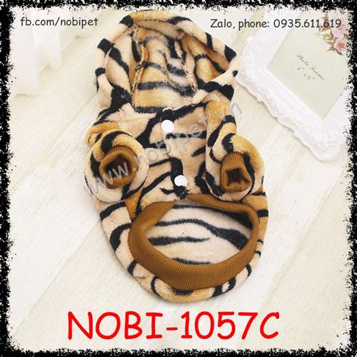 Áo Ấm Tiger Có Mũ Cho Chó Mặc Thu Đông Nobi-1057C