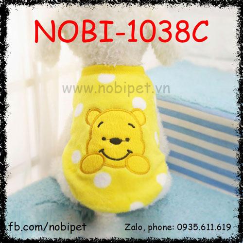 Áo Bông Bear Thời Trang Cho Chó Thu Đông Nobi-1038C